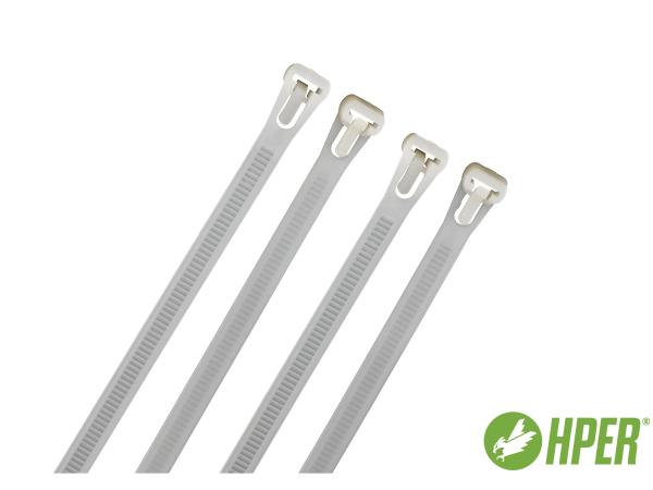 HPER Kabelbinder wiederlösbar nachhaltig 250 x 7,5 mm natur (VE100)