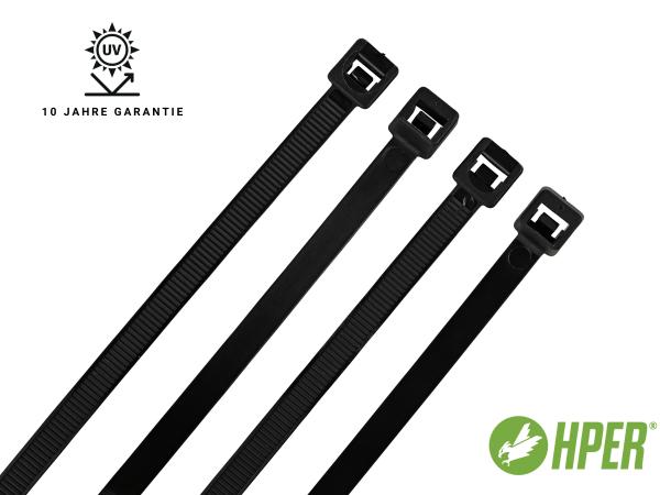 HPER Kabelbinder UV-witterungsstabil 10 Jahre 365 x 7,8 mm (VE100)