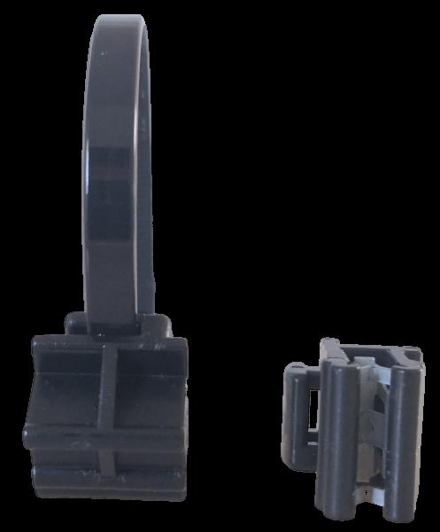 Edge Clip Schmal/Seitlich/90° mit Kabelbinder