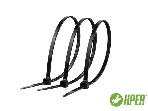 HPER Kabelbinder 140 x 3,6 mm schwarz PA6.6 (VE100)