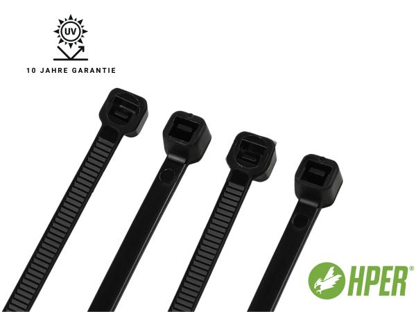 HPER Kabelbinder UV-witterungsstabil 10 Jahre 140 x 3,6 mm (VE100)