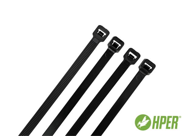 HPER Kabelbinder 550 x 9,0 mm schwarz PA6.6 (VE100)