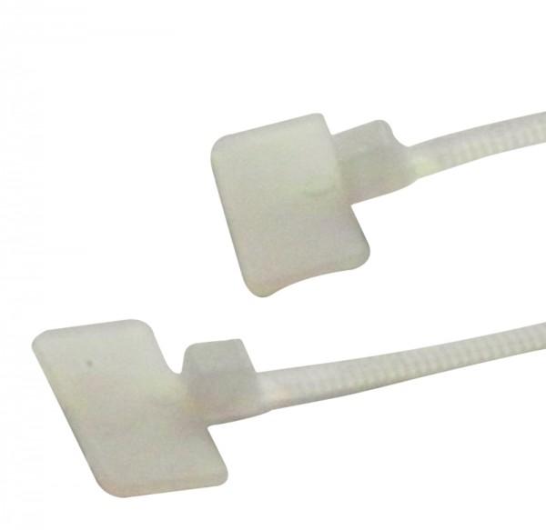 Kabelbinder 100 x 2,5 mm mit Beschriftungsfeld 9x20  (VE100)-1
