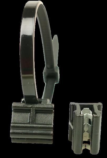 Edge Clip Schmal/Oben/90° mit Kabelbinder