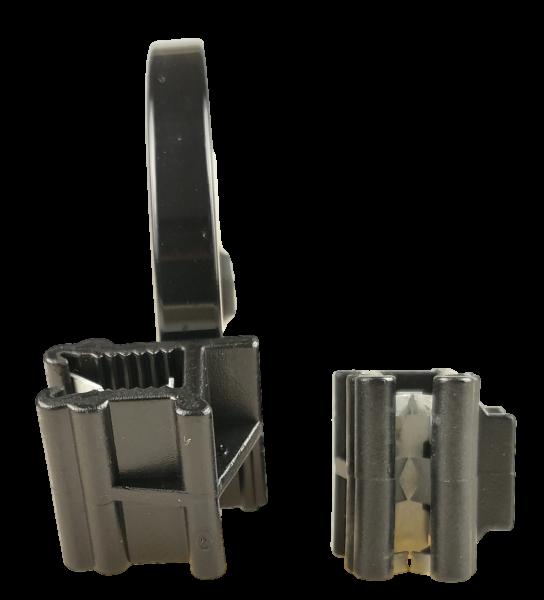Edge Clip Schmal/Seitlich/Parallel mit Kabelbinder