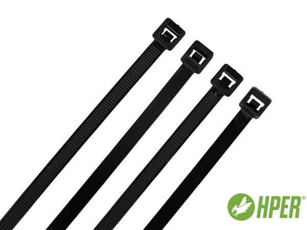 HPER Kabelbinder 180 x 7,8 mm schwarz PA6.6 (VE100)