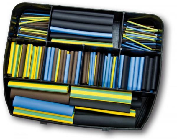 Schrumpfschlauch-Box 2:1 - 280 Abschnitte braun/blau/schwarz/gelbgrün (VE1)-1
