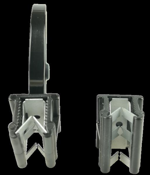 Edge Clip Breit/Oben/Parallel mit Kabelbinder