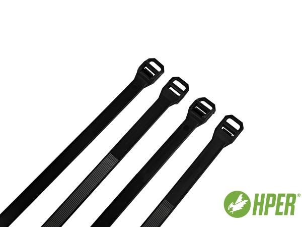 HPER Kabelbinder 1000 x 12,5 mm schwarz PA6.6 (VE100)