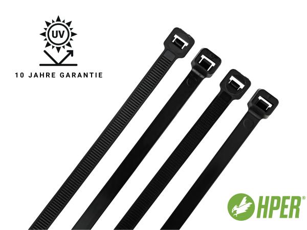 HPER Kabelbinder UV-witterungsstabil 10 Jahre 920 x 8,7 mm (VE100)