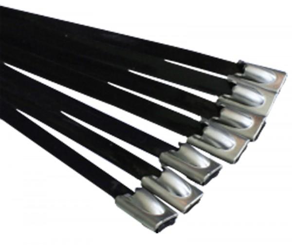 Kabelbinder Edelstahl beschichtet 200 x 4,6 mm (VE100)-1