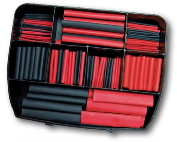 Schrumpfschlauch-Box 2:1 - 280 Abschnitte rot/schwarz (VE1)-1